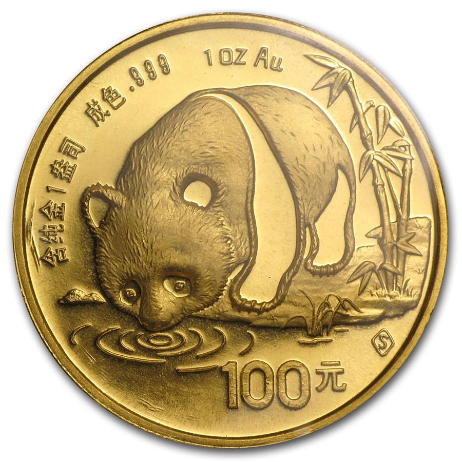 1987-S China 1 oz Gold Panda BU (Sealed)