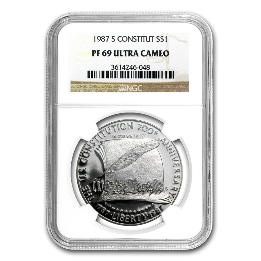 1987-S Constitution $1 Silver Commem PF-69 NGC