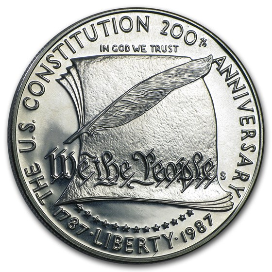 1987-S Constitution $1 Silver Commem Proof (Capsule Only)