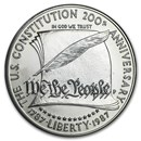 1987-S Constitution $1 Silver Commem Proof (w/Box & COA)