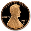 1987-S Lincoln Cent Gem Proof (Red)