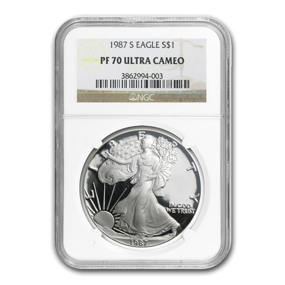 1987-S Proof American Silver Eagle PF-70 NGC