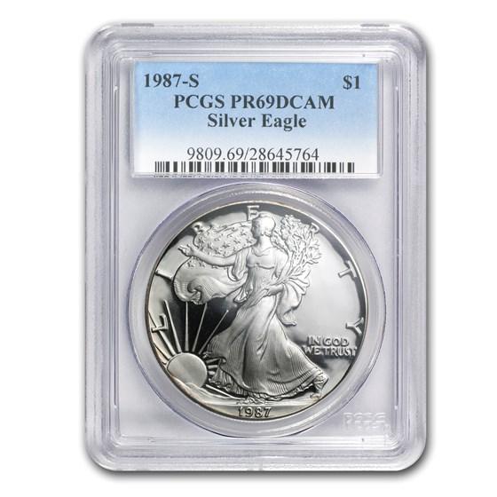 1987-S Proof American Silver Eagle PR-69 PCGS