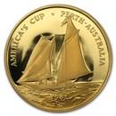 1987 Samoa Gold 100 Tala America's Cup Proof