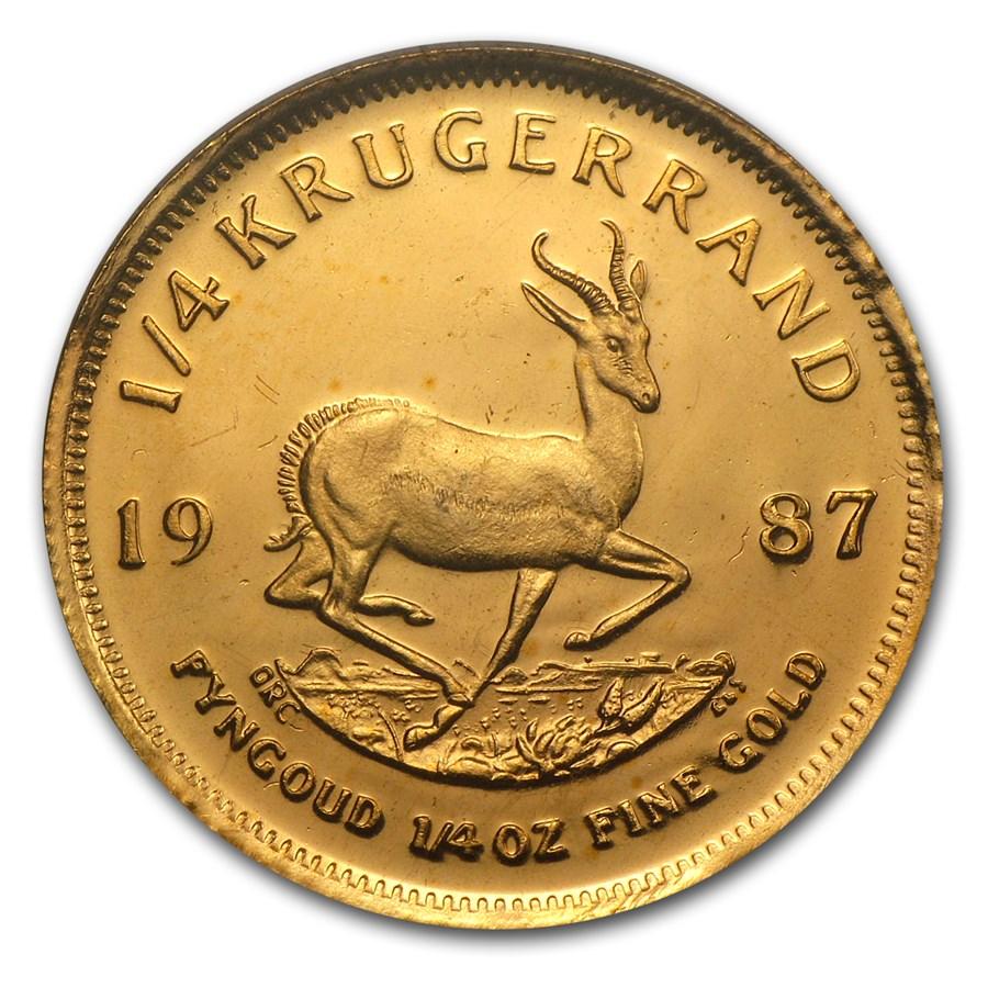 1987 South Africa 1/4 oz Proof Gold Krugerrand (GRC)
