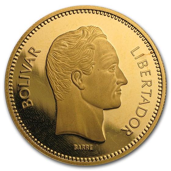 1987 Venezuela Proof Gold 10,000 Bolivares Simon Bolivar