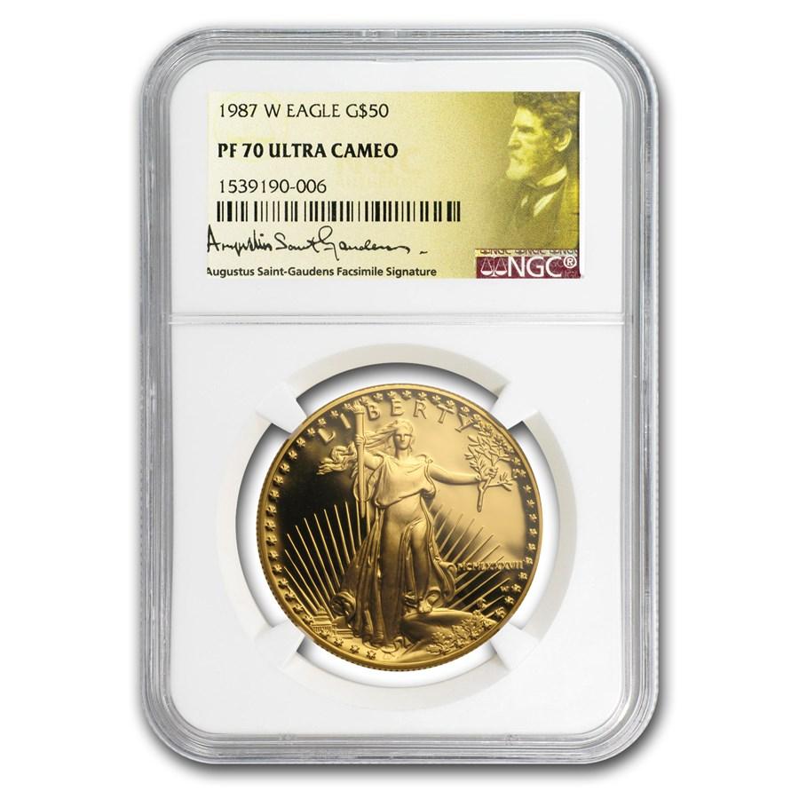1987-W 1 oz Proof American Gold Eagle PF-70 UCAM NGC