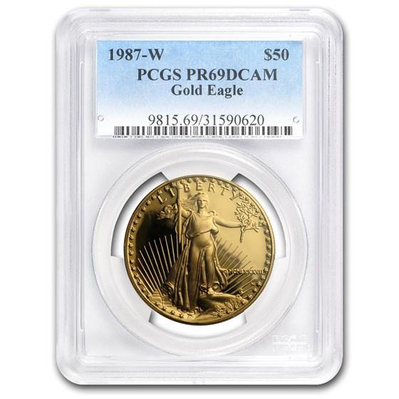 1987-W 1 oz Proof American Gold Eagle PR-69 DCAM PCGS