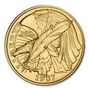 1987-W Gold $5 Commem Constitution BU (Capsule Only)