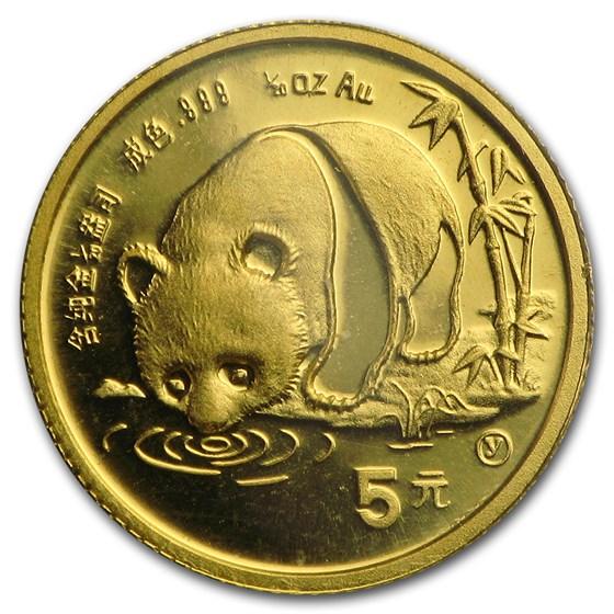 1987-Y China 1/20 oz Gold Panda BU (Sealed)
