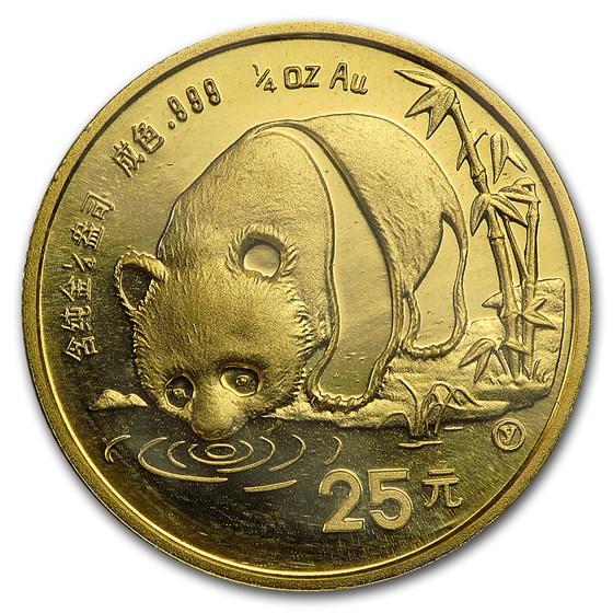 1987-Y China 1/4 oz Gold Panda BU (Sealed)