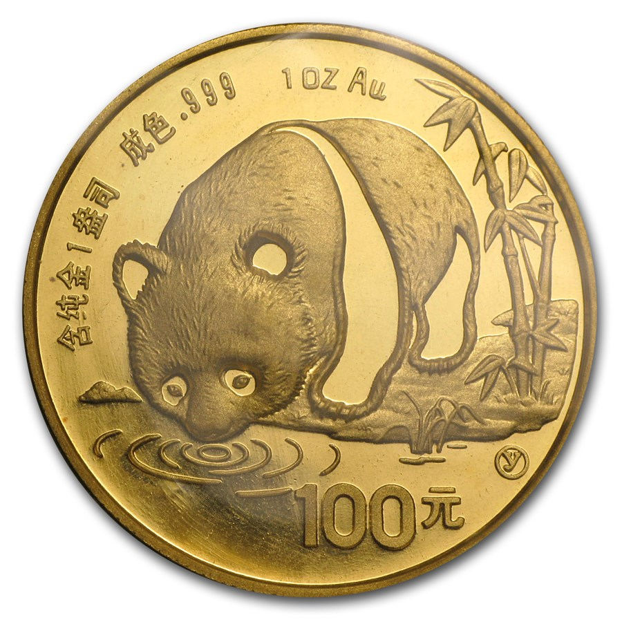 1987-Y China 1 oz Gold Panda BU (Sealed)