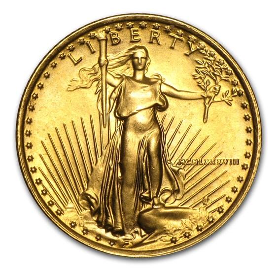 1988 1/10 oz American Gold Eagle BU (MCMLXXXVIII)