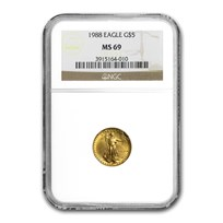 1988 1/10 oz American Gold Eagle MS-69 NGC