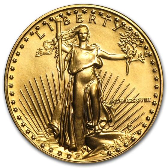 1988 1/2 oz American Gold Eagle BU (MCMLXXXVIII)