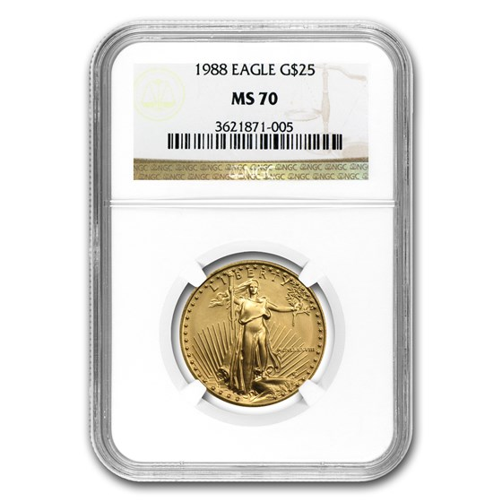 1988 1/2 oz Gold American Eagle MS-70 NGC