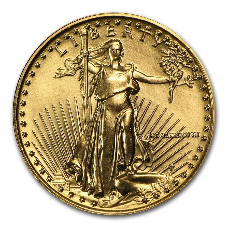 1988 1/4 oz American Gold Eagle BU (MCMLXXXVIII)