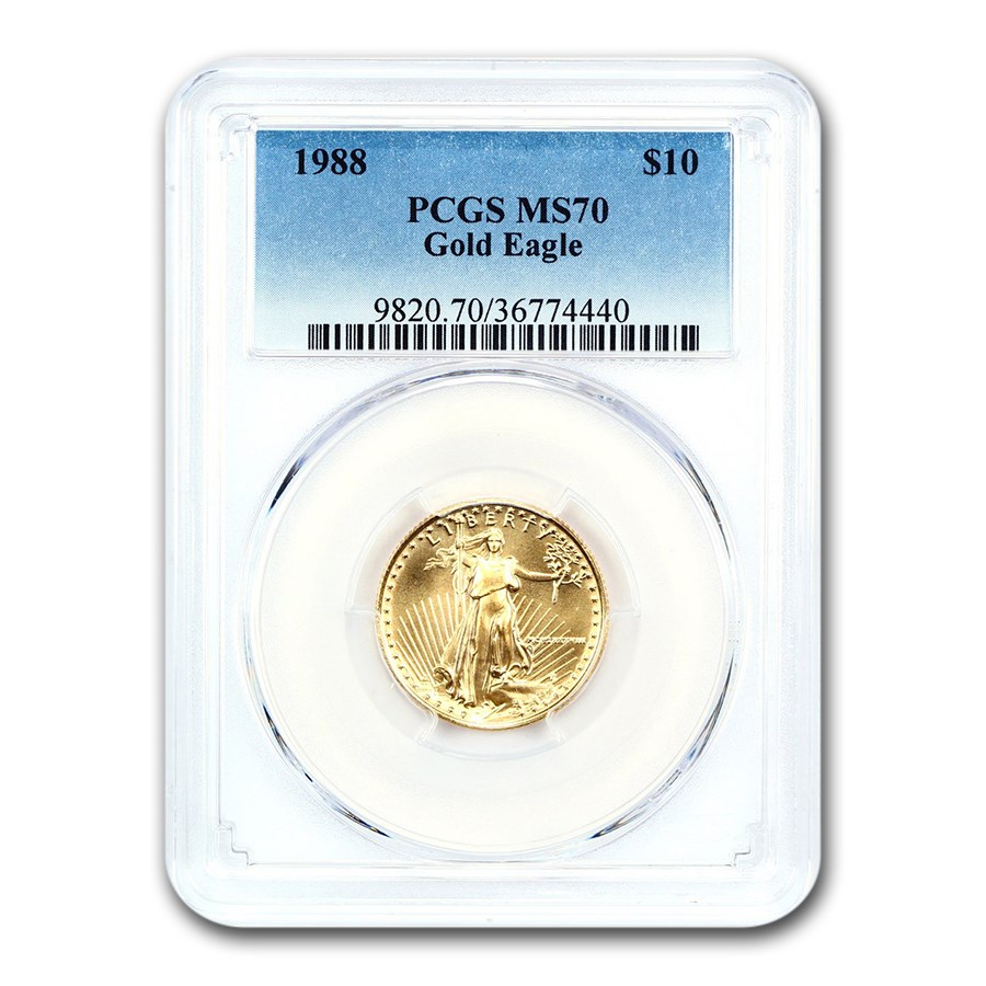 1988 1/4 oz American Gold Eagle MS-70 PCGS