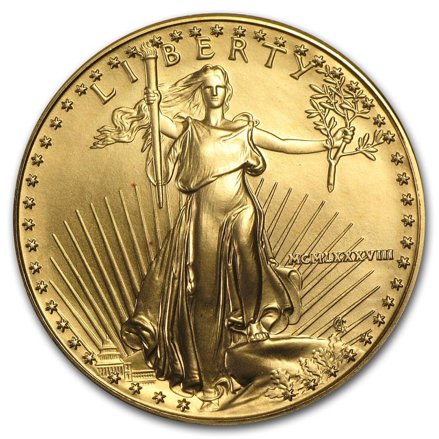 1988 1 oz American Gold Eagle BU (MCMLXXXVIII)