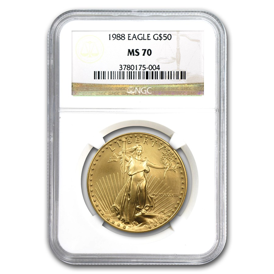 1988 1 oz American Gold Eagle MS-70 NGC