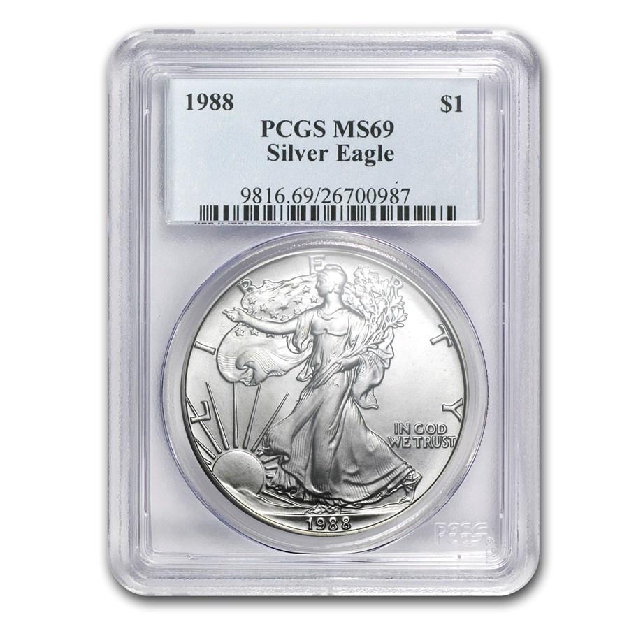 1988 American Silver Eagle MS-69 PCGS