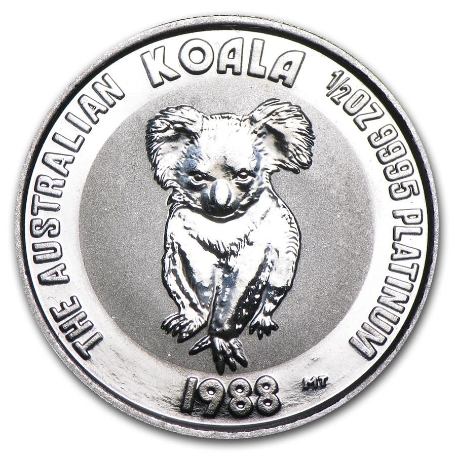 1988 Australia 1/2 oz Platinum Koala BU