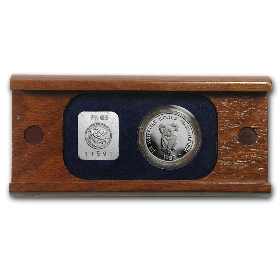 1988 Australia 1/2 oz Proof Platinum Koala (w/Box)