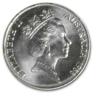 1988 Australia $10 Silver Ship BU