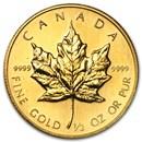 1988 Canada 1/2 oz Gold Maple Leaf BU