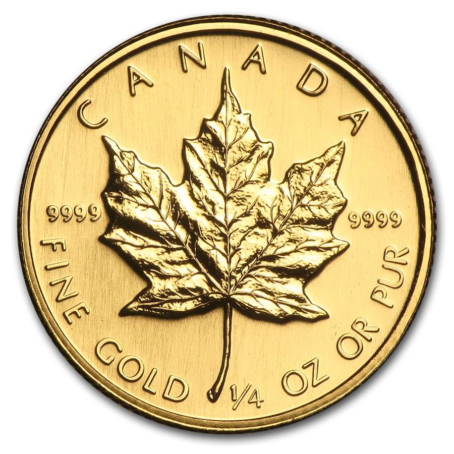 1988 Canada 1/4 oz Gold Maple Leaf BU