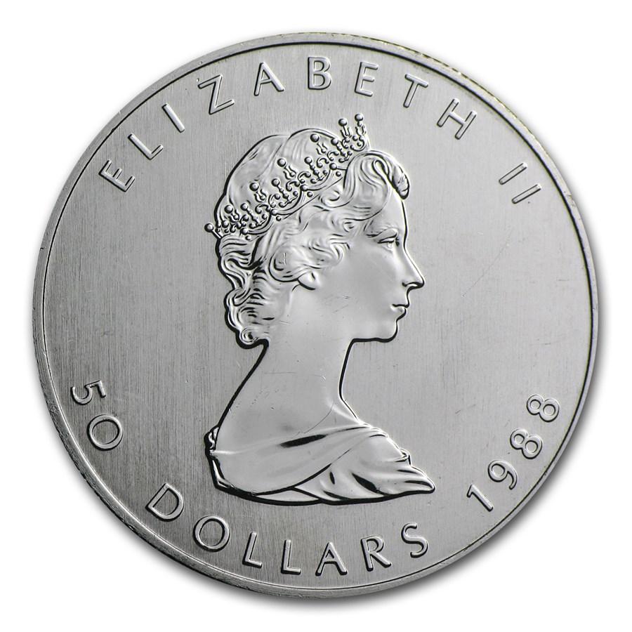 1988 Canada 1 oz Platinum Maple Leaf BU