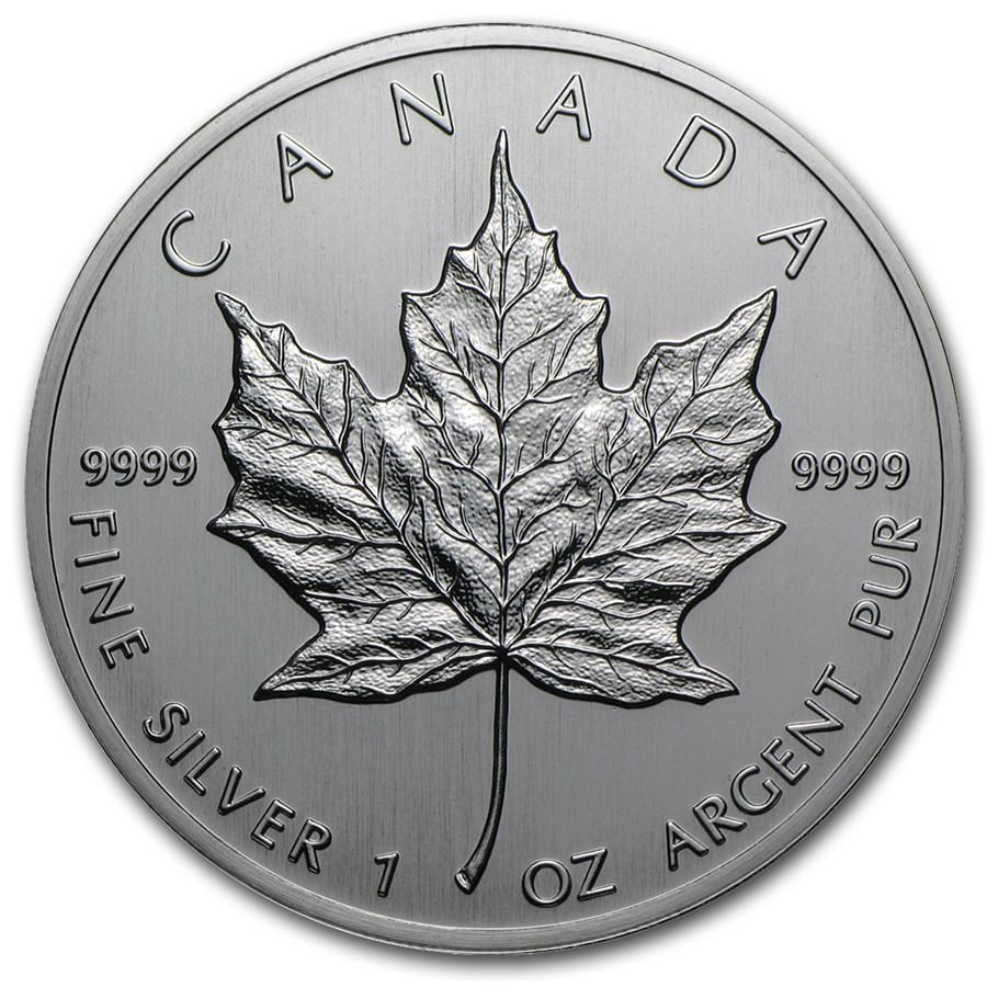 1988 Canada 1 oz Silver Maple Leaf BU