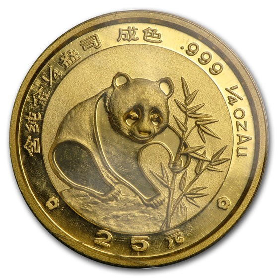 1988 China 1/4 oz Gold Panda BU (Sealed)