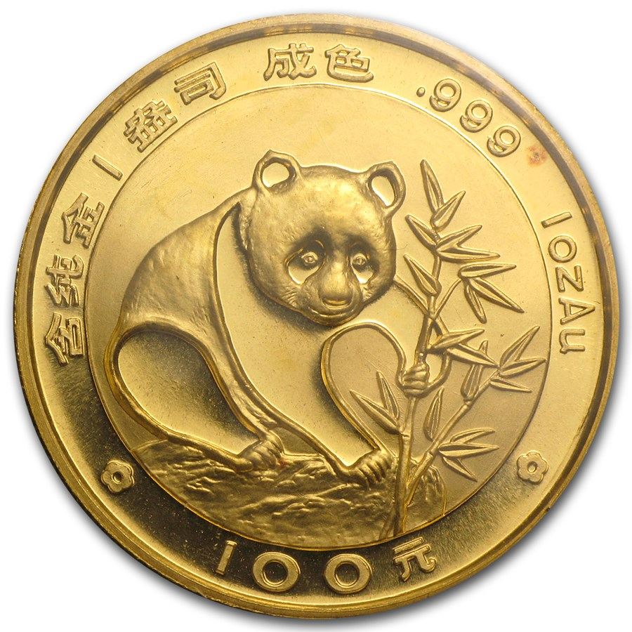 1988 China 1 oz Gold Panda BU (Sealed)