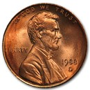 1988-D Lincoln Cent BU (Red)