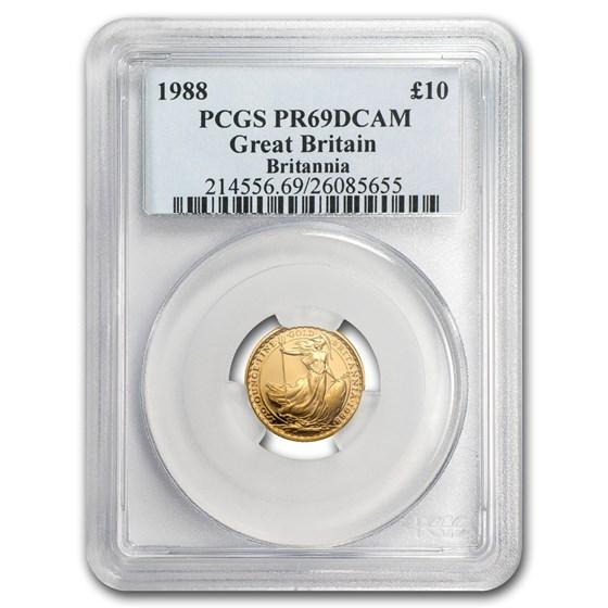 1988 Great Britain 1/10 oz Proof Gold Britannia PR-69 PCGS