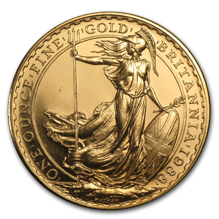 1988 Great Britain 1 oz Gold Britannia BU