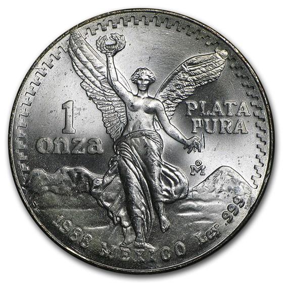 1988 Mexico 1 oz Silver Libertad BU