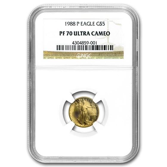 1988-P 1/10 oz Proof American Gold Eagle PF-70 NGC