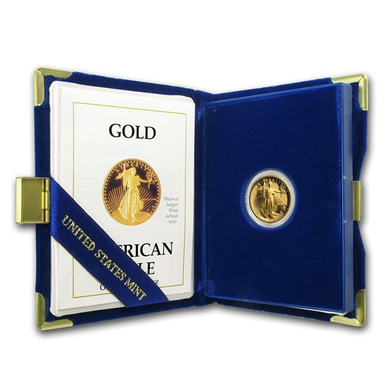 1988-P 1/10 oz Proof American Gold Eagle (w/Box & COA)