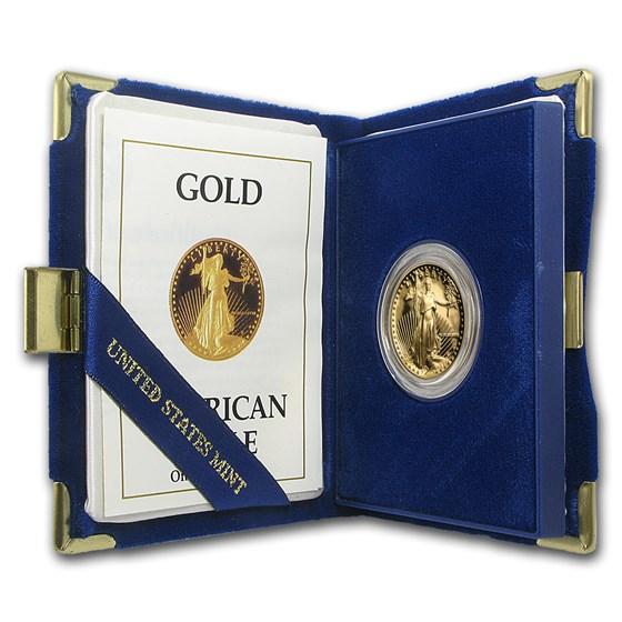 1988-P 1/2 oz Proof American Gold Eagle (w/Box & COA)