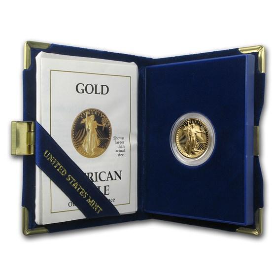 1988-P 1/4 oz Proof American Gold Eagle (w/Box & COA)