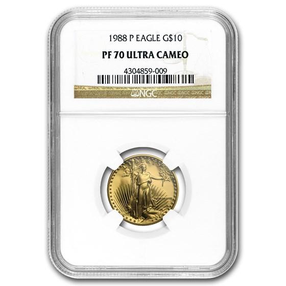1988-P 1/4 oz Proof Gold American Eagle PF-70 NGC