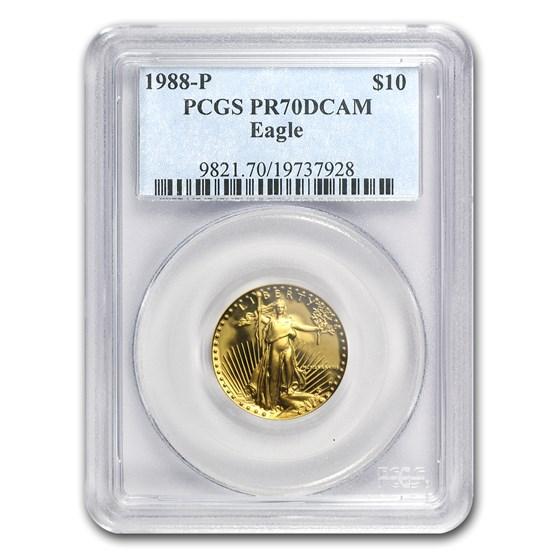 1988-P 1/4 oz Proof Gold American Eagle PR-70 PCGS