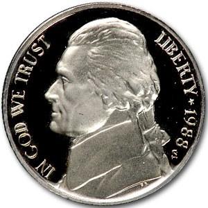 1988-S Jefferson Nickel Gem Proof