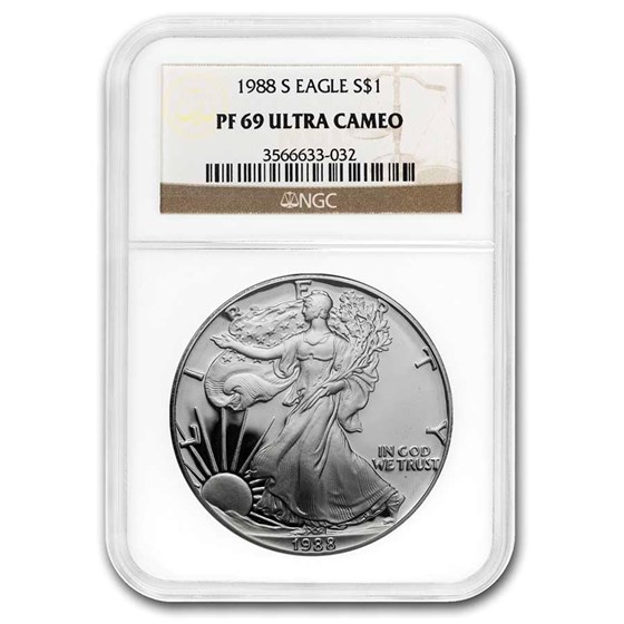 1988-S Proof American Silver Eagle PF-69 NGC