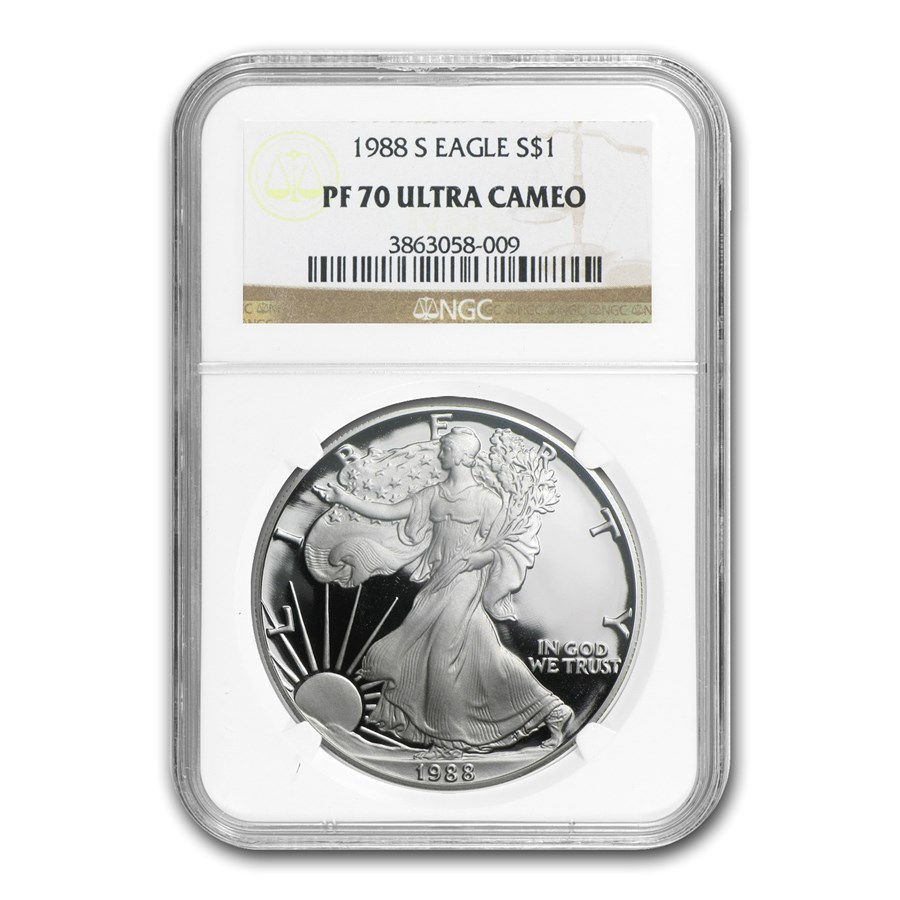 1988-S Proof American Silver Eagle PF-70 NGC
