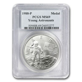 1988 Silver Young Astronauts Medal MS-69 PCGS