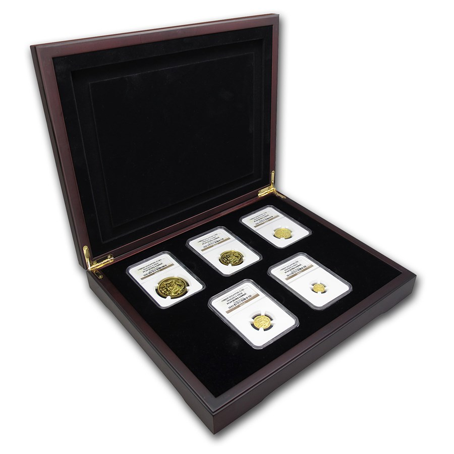 1988 Singapore 5-Coin Gold Singold Dragon Proof Set PF-69 NGC