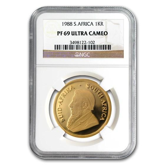 1988 South Africa 1 oz Gold Krugerrand PF-69 NGC